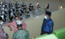 Bupati Alfedri Tinjau Pelaksanaan Seleksi Kompetensi Dasar CPNS Siak 2021